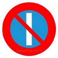 Biển báo cấm đỗ xe vào những ngày lẻ - Biển báo giao thông số hiệu 131b