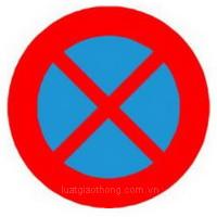 Biển báo cấm dừng xe và đỗ xe - Biển báo giao thông số hiệu 130