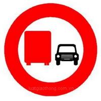 Biển báo cấm ôtô tải vượt - Biển báo giao thông số hiệu 126