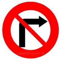 Biển báo Cấm rẽ phải- Biển báo giao thông số hiệu 123b
