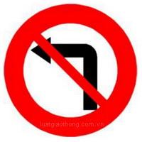 Biển báo Cấm rẽ trái- Biển báo giao thông số hiệu 123a