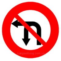 Biển báo Cấm rẽ trái và quay đầu xe - Biển báo giao thông số hiệu 124c