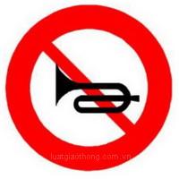 Biển báo cấm sử dụng còi - Biển báo giao thông số hiệu 128