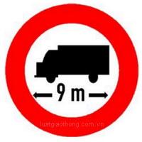 Biển báo Hạn chế chiều dài xe - Biển báo giao thông số hiệu 119