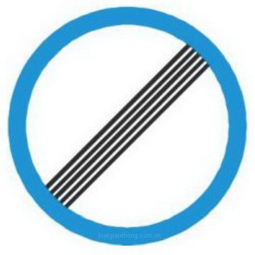 Biển báo hết tất cả các lệnh cấm - Biển báo giao thông số hiệu 135